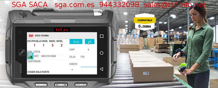Picking con el sistema de gestión de almacenes SGA SACA