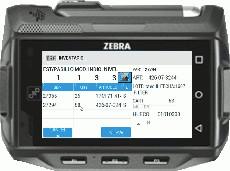 SGA SACA pantalla de inventario de almacén de terminal wifi wearable