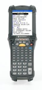 sistema de gestión de almacenes SGA SACA, pantalla de terminal de radiofrcuencia windows CE