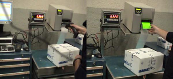 Puesto de pesaje automático del módulo de expediciones del SGA SACA